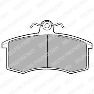 Гальмівні колодки, дискові PAGID арт. LP551