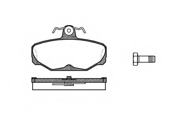 Тормозная система Гальмiвнi колодки, к-кт. PAGID арт. 220500