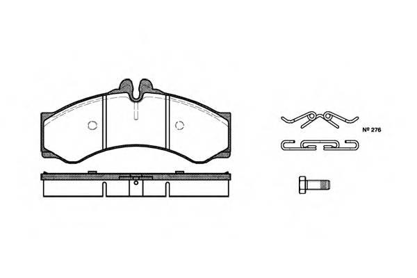 Тормозная система Гальмiвнi колодки, к-кт. PAGID арт. 261400
