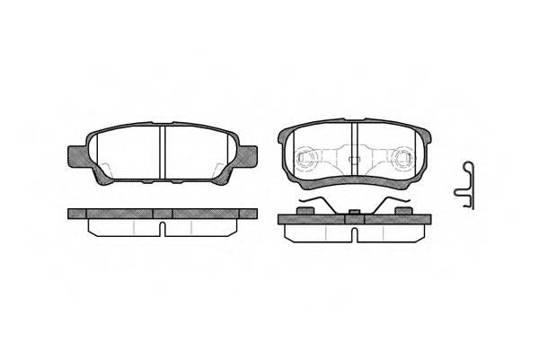 Тормозная система Гальмiвнi колодки, к-кт. PAGID арт. 2105102