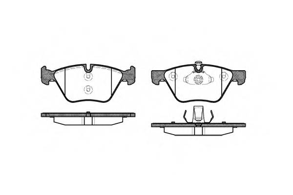 Тормозная система Гальмiвнi колодки, к-кт. PAGID арт. 2105200