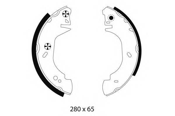 Тормозные колодки 280X64 Тормозные колодки PAGID арт. H8770