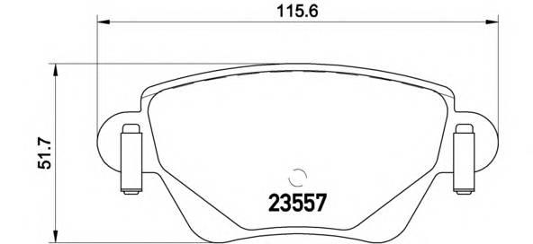 Тормозные колодки Тормозные колодки Brembo PAGID арт. P24059