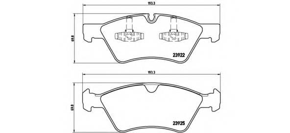 Тормозные колодки Тормозные колодки Brembo ABE арт. P50063