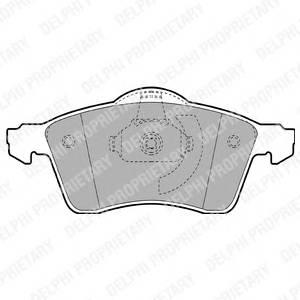 Гальмівні колодки, дискові PAGID арт. LP1092