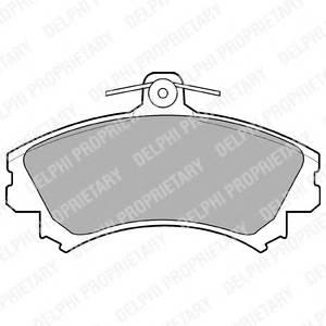 Гальмівні колодки, дискові PAGID арт. LP993