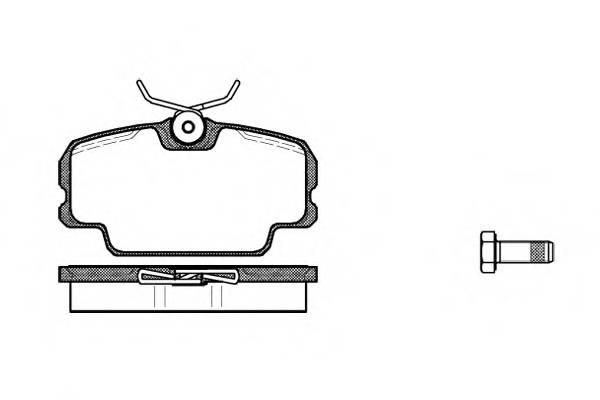 Тормозная система Гальмiвнi колодки, к-кт. PAGID арт. 214500