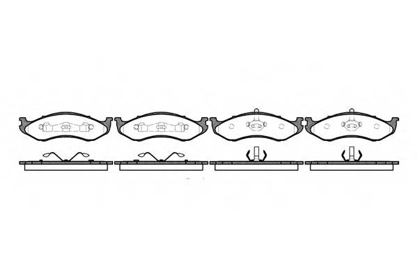 Тормозная система Гальмiвнi колодки, к-кт. PAGID арт. 246700