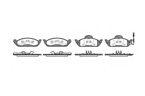 Тормозная система Гальмiвнi колодки, к-кт. PAGID арт. 269701