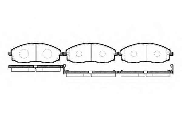 Тормозная система Гальмiвнi колодки, к-кт. ABE арт. 270302