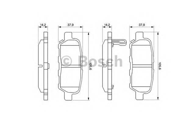 Тормозные колодки Тормозные колодки Bosch PAGID арт. 0986494090