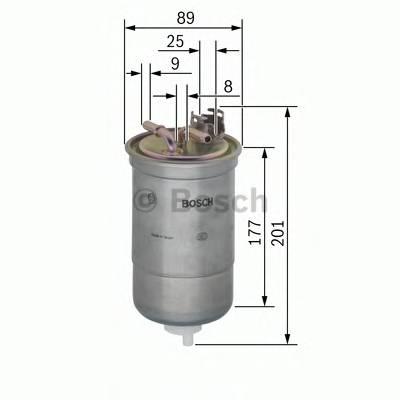 Топливные фильтры Топливный фильтр диз BOSCH арт. 0450906295