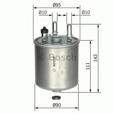 Топливные фильтры Топливный фильтр BOSCH арт. F026402081