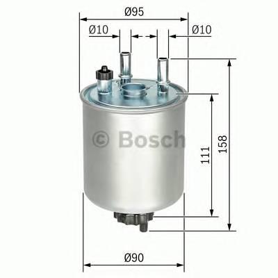 Топливные фильтры Топливный фильтр BOSCH арт. F026402082