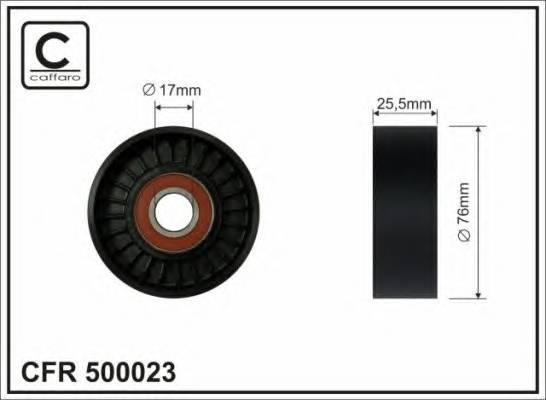 Натяжной ролик, поликлиновой  ремень CAFFARO 500023