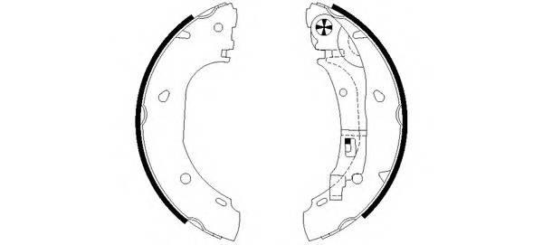 Тормозные колодки Тормозные колодки барабанные ABE арт. 91060900