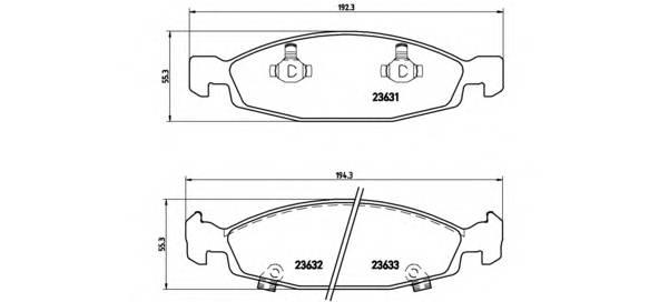 Тормозные колодки Тормозные колодки дисковые PAGID арт. P37005
