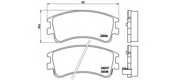 Тормозная система Гальмiвнi колодки, к-кт. PAGID арт. P49032