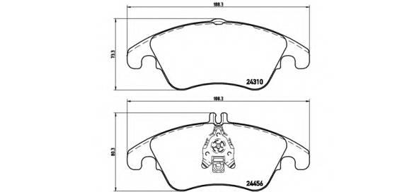 Тормозные колодки Тормозные колодки дисковые ABE арт. P50069