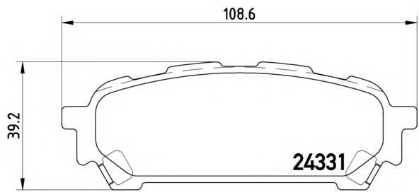 Тормозные колодки Тормозные колодки дисковые BREMBO арт. P78014