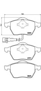 Тормозные колодки Тормозные колодки Brembo PAGID арт. P85045