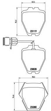 Тормозные колодки Тормозные колодки Brembo PAGID арт. P85054