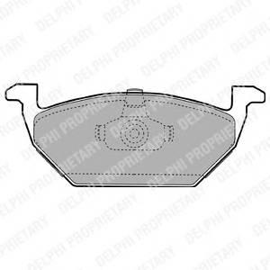 Гальмівні колодки, дискові PAGID арт. LP1104