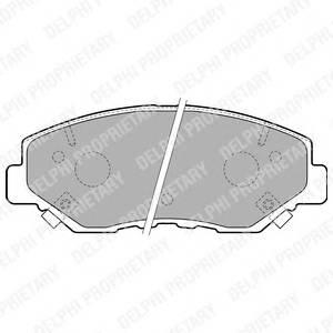 Гальмівні колодки, дискові PAGID арт. LP1806