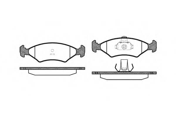 Тормозная система Гальмiвнi колодки, к-кт. PAGID арт. 211910