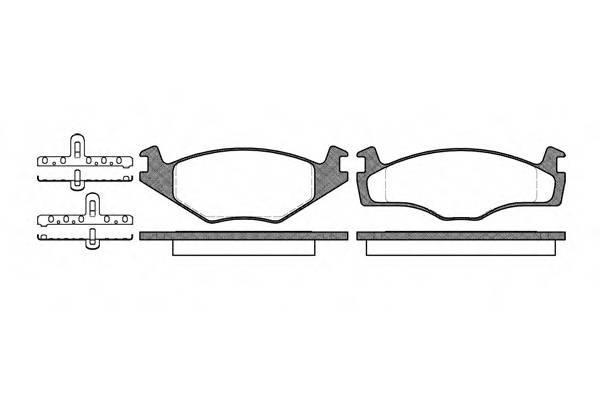 Тормозная система Гальмiвнi колодки, к-кт. PAGID арт. 217100