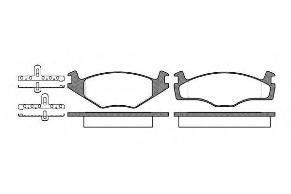 Тормозная система Гальмiвнi колодки, к-кт. PAGID арт. 217110