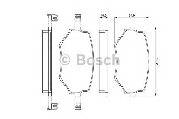 Тормозные колодки Тормозные колодки Bosch ABE арт. 0986424669