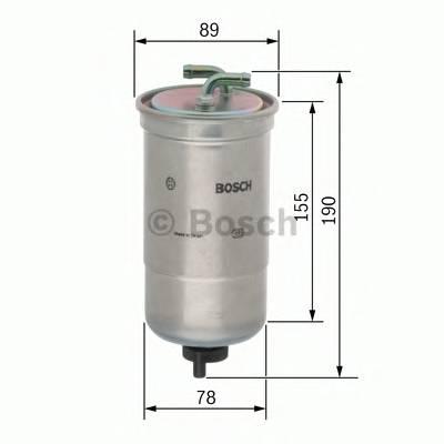 Топливные фильтры Топливный фильтр диз BOSCH арт. 0450906442
