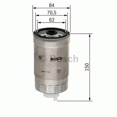 Топливные фильтры Топливный фильтр BOSCH арт. 1457434460