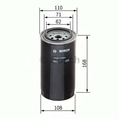 Топливные фильтры Топливный фильтр BOSCH арт. F026402034