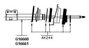 Амортизатор ORIGINAL KYB арт. G16660