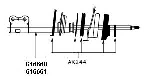 Амортизатор ORIGINAL KYB арт. G16661