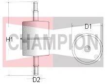 Топливные фильтры Топливный фильтр CHAMPION арт. L106606