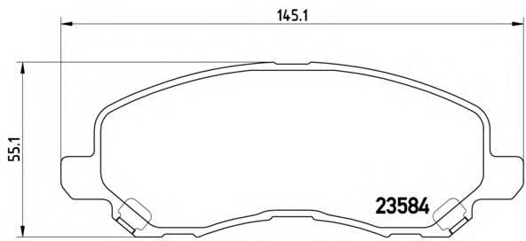 Тормозные колодки Тормозные колодки Brembo PAGID арт. P11026