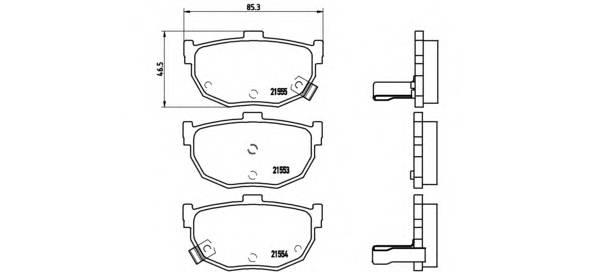 Тормозная система Гальмiвнi колодки, к-кт. PAGID арт. P30003