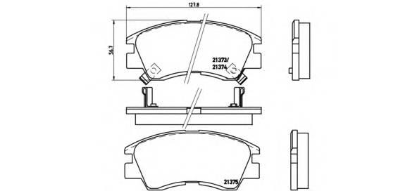 Тормозные колодки Тормозные колодки Brembo PAGID арт. P54008