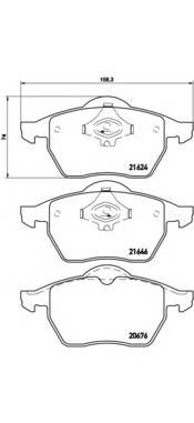 Тормозные колодки Тормозные колодки Brembo PAGID арт. P85036