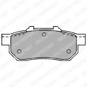 Гальмівні колодки, дискові PAGID арт. LP1456