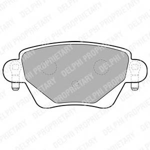 Гальмівні колодки, дискові PAGID арт. LP1682