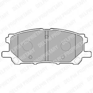 Гальмівні колодки, дискові PAGID арт. LP1823
