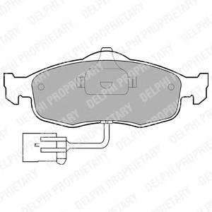 Гальмівні колодки, дискові PAGID арт. LP781