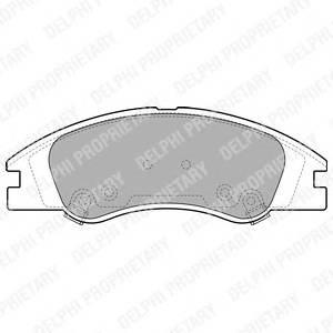 Гальмівні колодки, дискові PAGID арт. LP1932