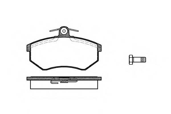 Тормозная система Гальмiвнi колодки, к-кт. PAGID арт. 213400