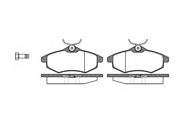 Тормозная система Гальмiвнi колодки, к-кт. PAGID арт. 288100