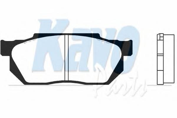 Тормозные колодки Тормозные колодки дисковые KAVOPARTS арт. BP2000